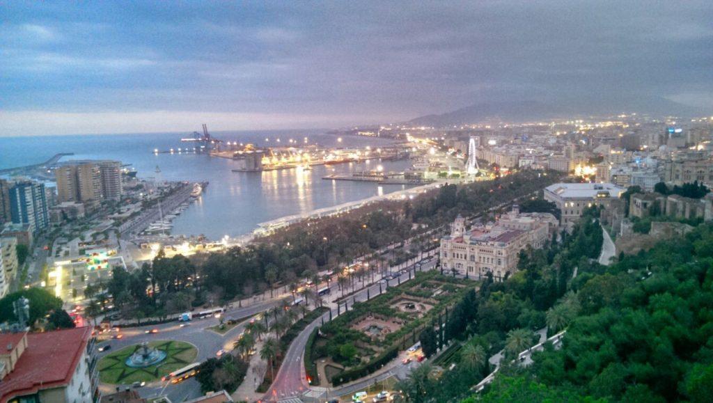 Estudiar en España: vista de Málaga desde el mirador del Gibralfaro
