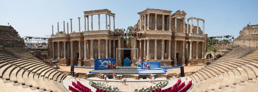 Teatro romano en Mérida Extremadura España