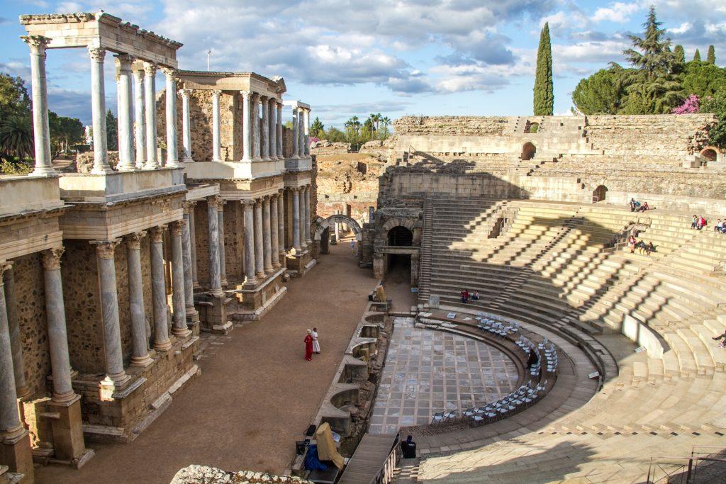 Teatro romano en Mérida Extremadura