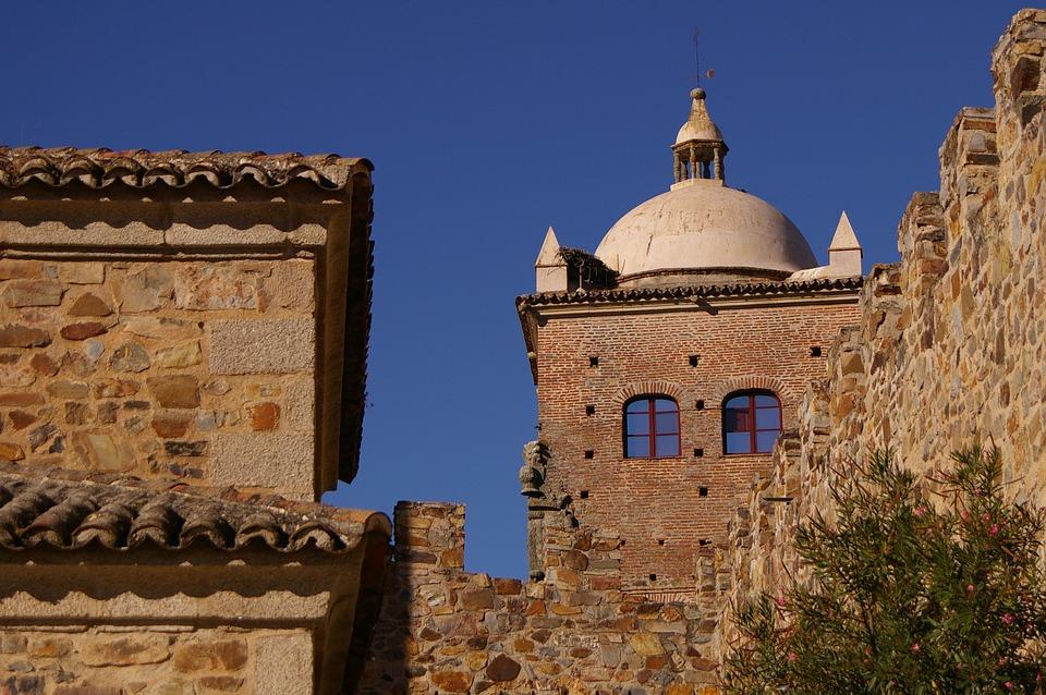 Montanchez wioska w Caceres, Estremadura