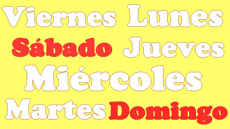 días de la semana en español